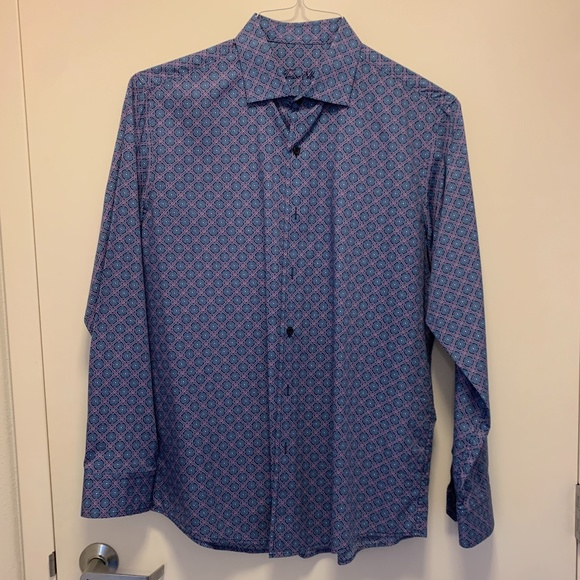 Men's Tasso Elba Long Sleeve Shirt Size L